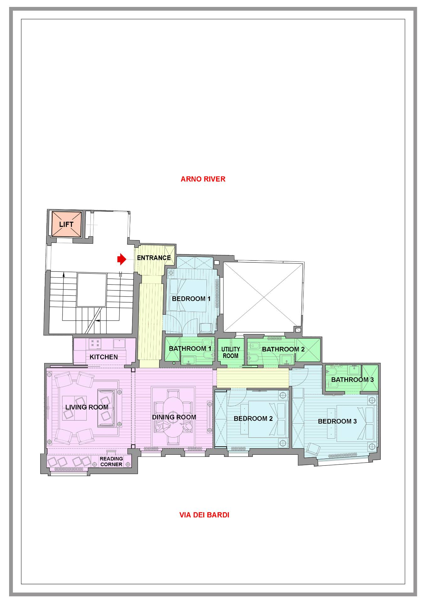 Appartamento in Affitto a Firenze: 5 locali, 110 mq - Foto 15
