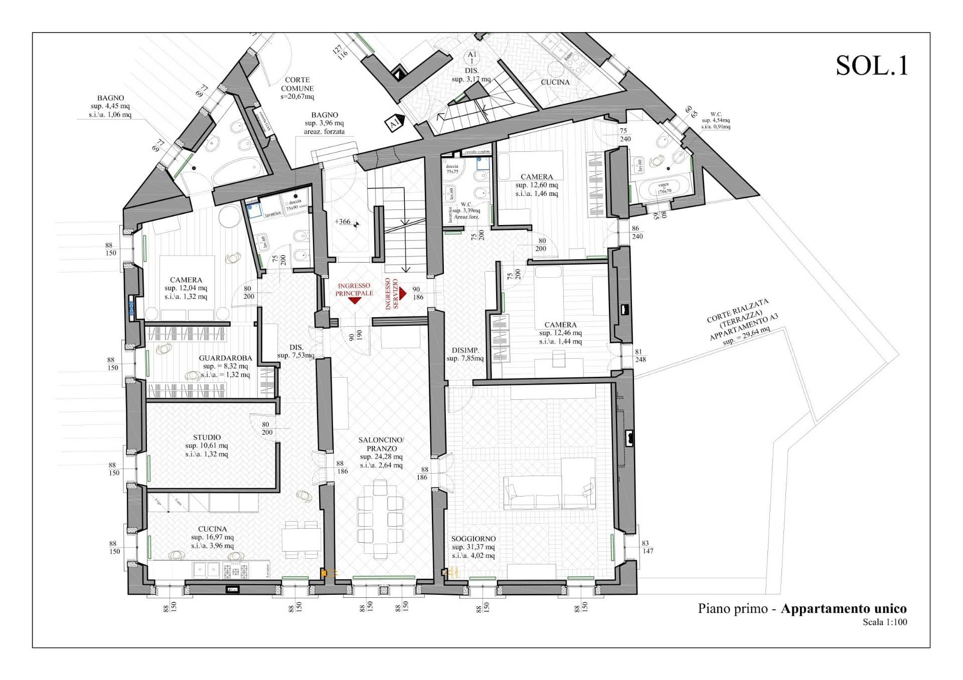 Appartamento in Vendita a Belluno: 5 locali, 220 mq - Foto 15