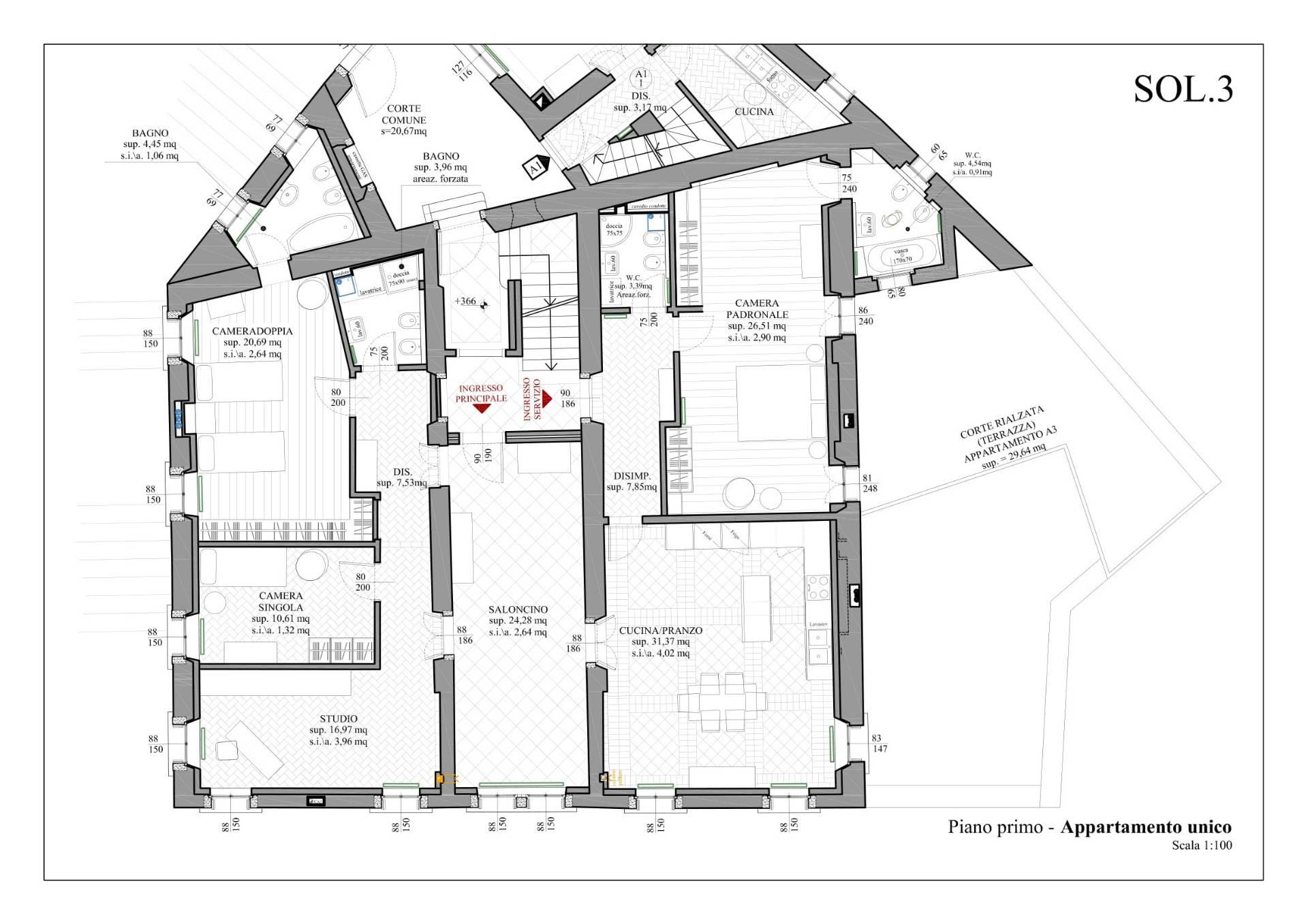 Appartamento in Vendita a Belluno: 5 locali, 220 mq - Foto 17