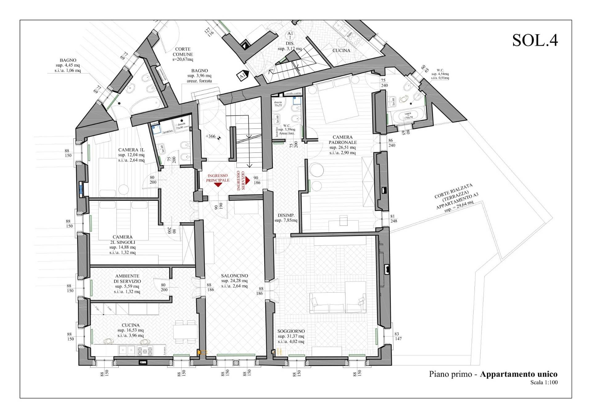 Appartamento in Vendita a Belluno: 5 locali, 220 mq - Foto 18
