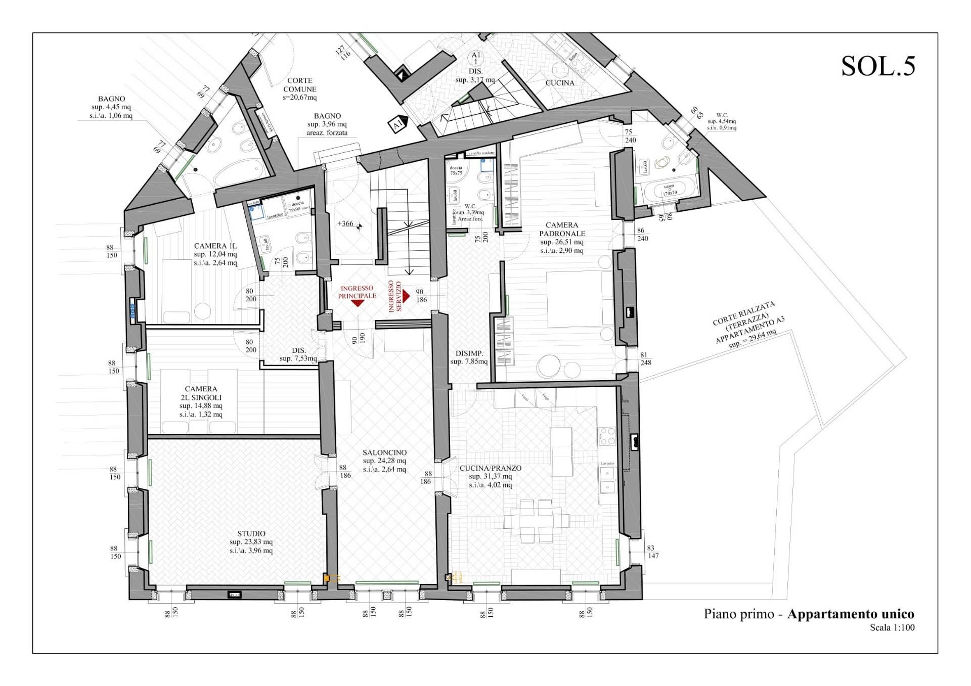 Appartamento in Vendita a Belluno: 5 locali, 220 mq - Foto 19