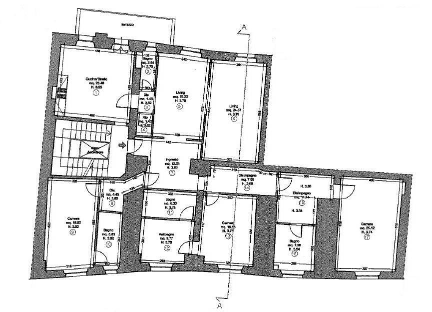 Appartamento in Vendita a Lucca: 5 locali, 200 mq - Foto 28