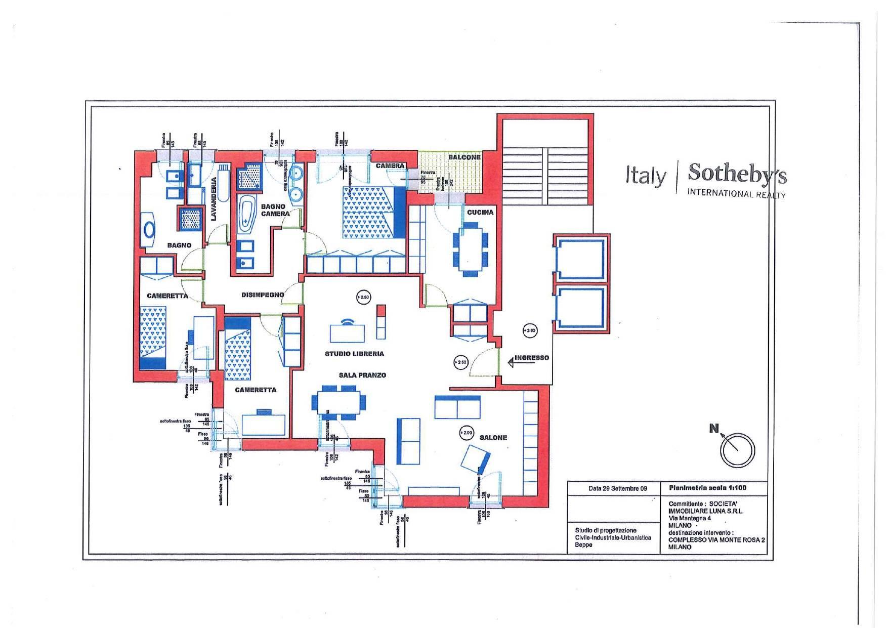 Appartamento in Affitto a Milano: 4 locali, 160 mq - Foto 30