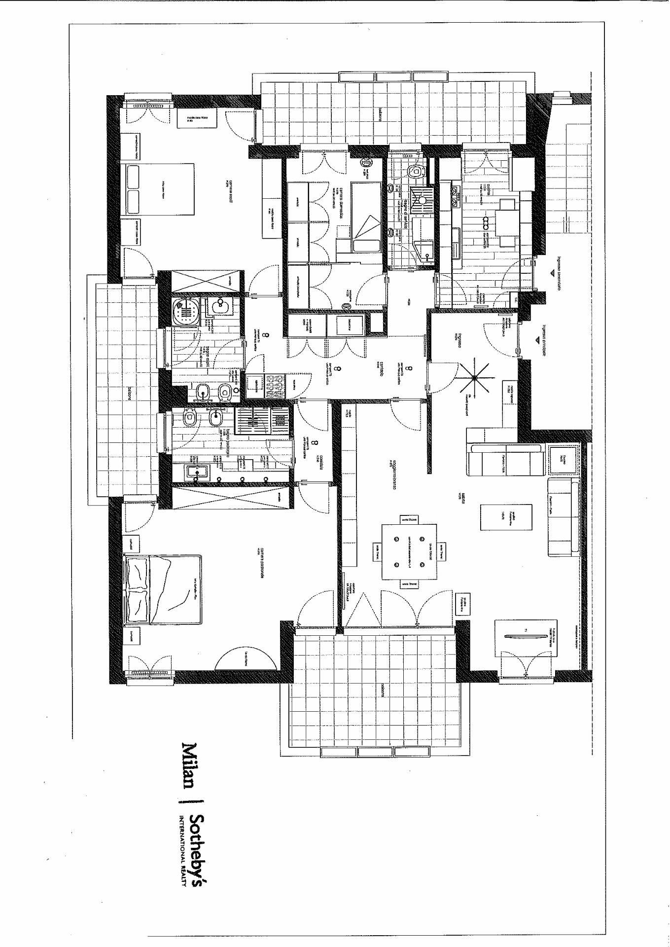 Appartamento in Affitto a Milano: 4 locali, 193 mq - Foto 19
