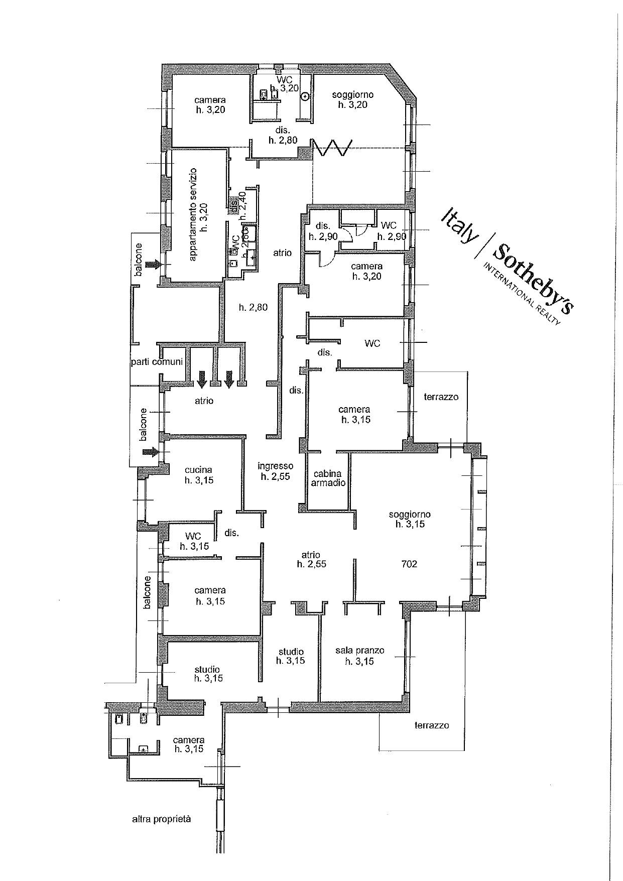 Appartamento in Vendita a Milano: 5 locali, 470 mq - Foto 26