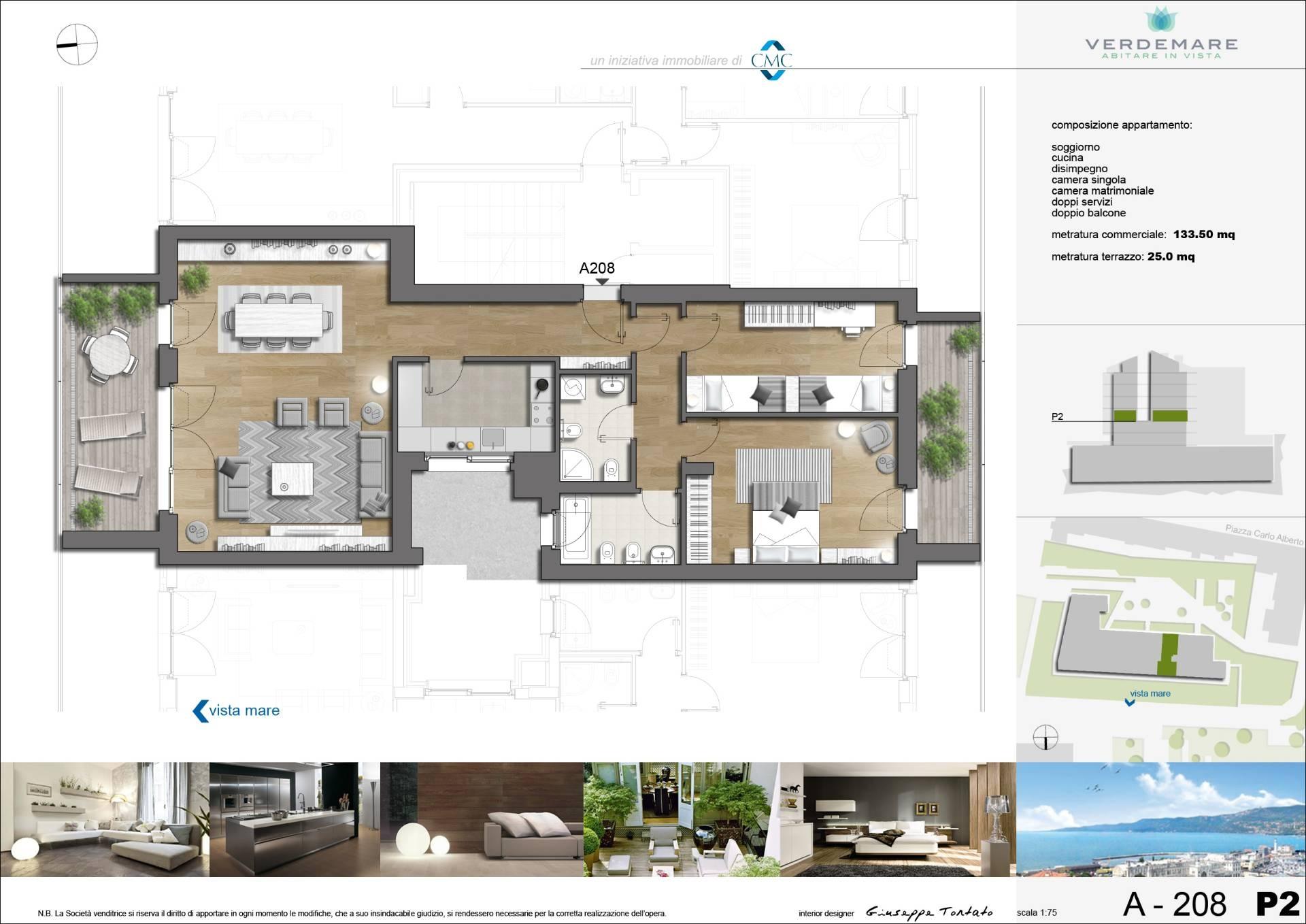 Appartamento in vendita a Trieste, 3 locali, zona Zona: Centro, prezzo € 405.000 | CambioCasa.it